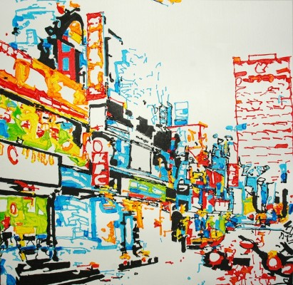 Kyle Clements Urban Landscape Painting